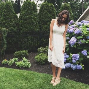 Ivory Lace Summer Dress